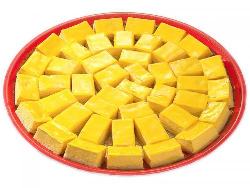 s11芒果慕斯蛋糕拼盤<br>(圓盤:30個大銀盤:54個)<br>(已改用手把銀)