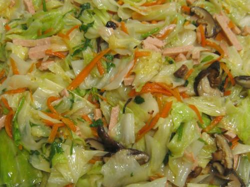 N06高麗菜熱炒香菇